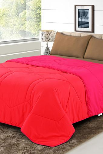 Microfiber Double Colour Block Quilted Quilt