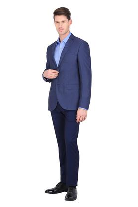 Mens Notched Lapel Printed Blazer