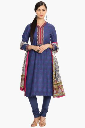 BIBA Women Straight Cotton Suit Set - 202981587