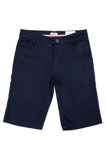 Boys 4 Pocket Solid Bermudas