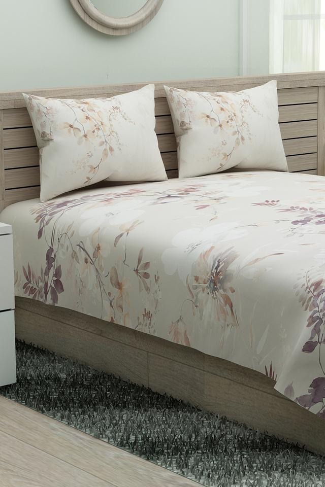 Printed Extra Large Bed Sheet with Pillow Cover