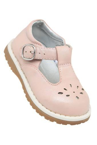 Girls Buckle Closure Solid Sandals