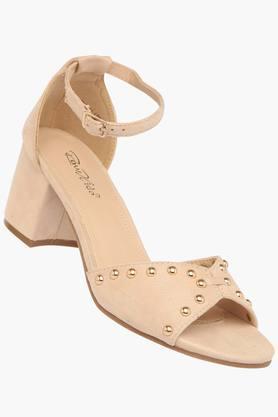 RAW HIDEWomens Party Wear Buckle Closure Heels - 203320685