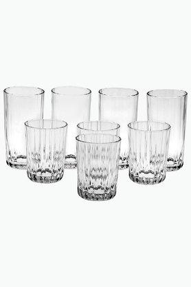 Long and Small Round Glasses Set of 8