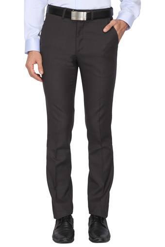 Mens 4 Pocket Self Pattern Formal Trousers