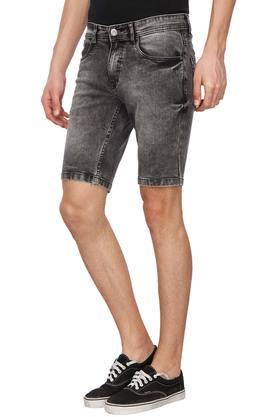 Mens 5 Pocket Stone Wash Shorts