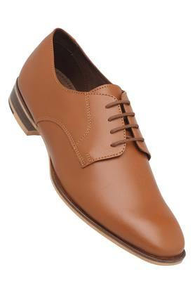 FRANCO LEONE Mens Leather Lace Up Derbys - 204584825_9124
