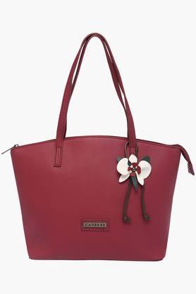 CAPRESEWomens Casual Wear Zipper Closure Tote Handbag