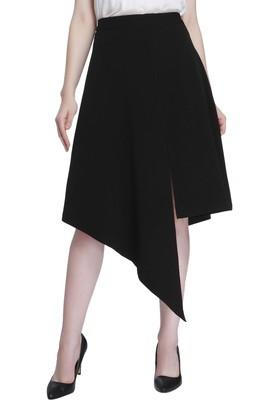 VERO MODA Womens Solid Casual Asymmetrical Skirt