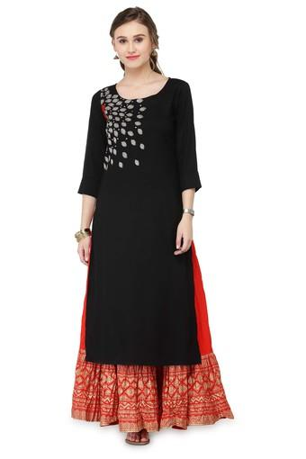VARANGA -  Black Salwar & Churidar Suits - Main