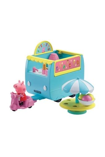 Unisex Peppa Pig Ice Cream Van Playset with Accessories