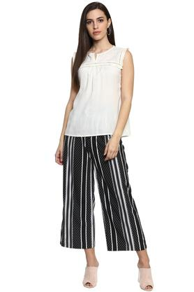 Womens 4 Pocket Striped Culottes