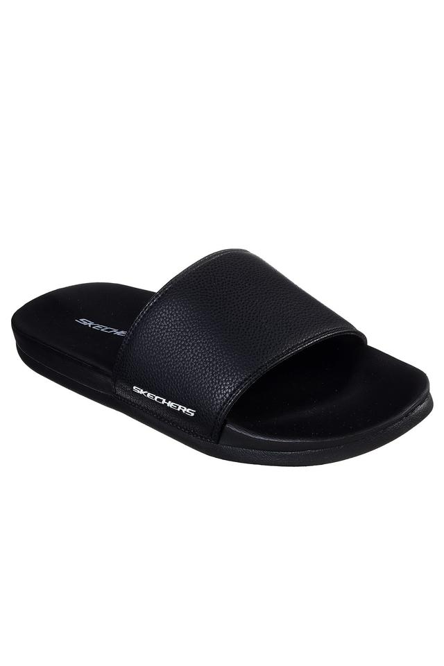 SKECHERS - Black Flip Flops - Main