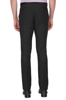 Mens 4 Pocket Printed Formal Trousers