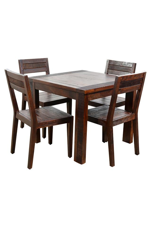 Brown Nolan 4 Seater Dining Set