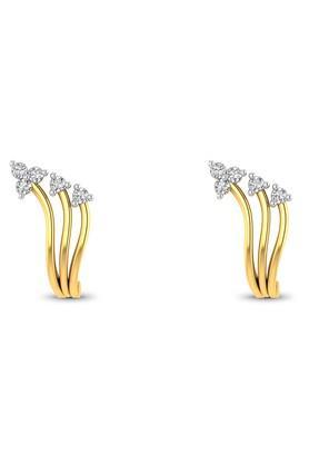 P.N.GADGIL JEWELLERSWomens Nature Diamond Studs - DER1948