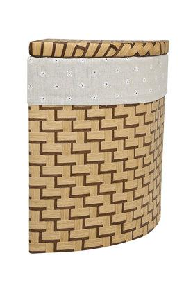 BACK TO EARTH Tri Corner Fit Printed Basket With Lid - 42 Cms
