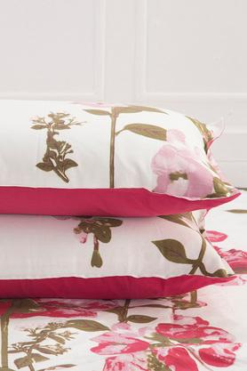 Superfine Cotton Red King Bedsheet with 2 Pillow Covers - 210 TC