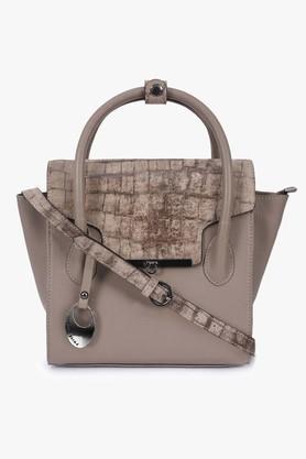 PHIVE RIVERSWomens Metallic Lock Closure Satchel Handbag