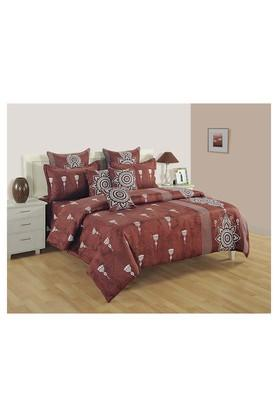 SWAYAMPrinted Double Bed Sheet, Comforter And Pillow Covers Set - 204584162_9126
