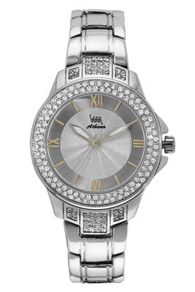 Womens Silver Dial Stainless Steel Analogue Watch - W111C