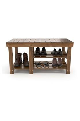 Brown Wooden Shoe Rack