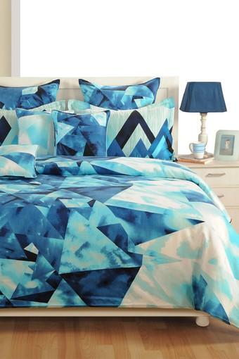 Geometric Single Bed Sheet with 1 Pillow Cover