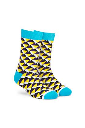 Unisex Printed and Colour Block Socks - Pack of 4