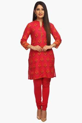 BIBA Womens Cotton Straight Kurta