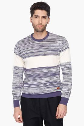 WROGN Mens Crew Neck Slim Fit Sweater