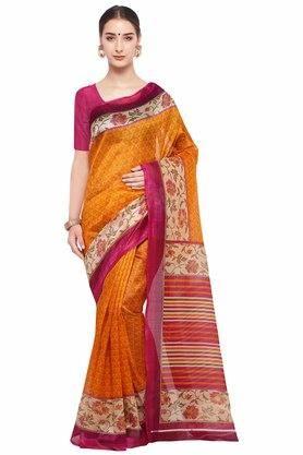 RACHNA Womens Printed Bhagalpuri Silk Saree