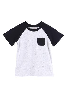 Boys Regular Fit Round Neck Colour Block Tee