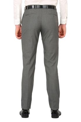 Mens 4 Pocket Printed Formal Trousers