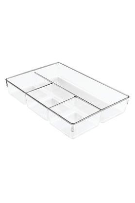 INTERDESIGNRectangular Transparent Drawer With Compartment