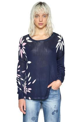DESIGUAL Womens Round Neck Printed Pullover - 203850086_9308