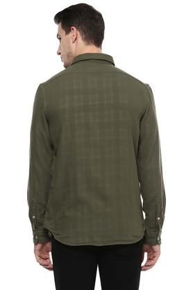 Mens Regular Fit Checks Casual Shirt