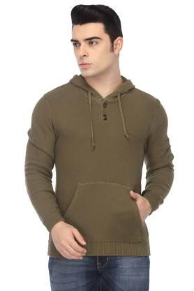 AEROPOSTALEMens Hooded Neck Knitted Sweater