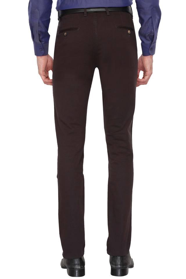 Mens 5 Pocket Slub Formal Trousers