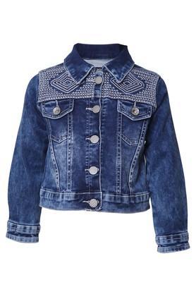 Girls 2 Pocked Washed Jacket