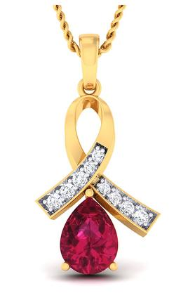 P.N.GADGIL JEWELLERS Womens Fancy Diamond Studded Pendant DPN5200