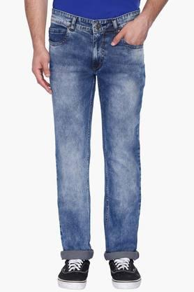 RS BY ROCKY STAR Mens 5 Pocket Stone Wash Jeans