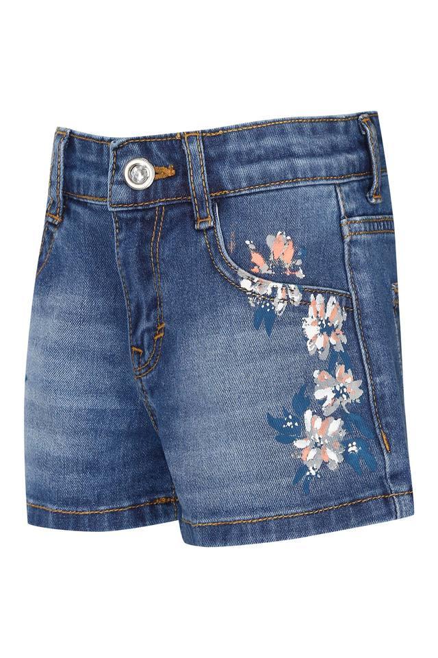 Girls 4 Pocket Solid Shorts