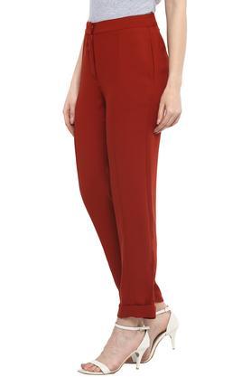 Womens 2 Pocket Solid Pants