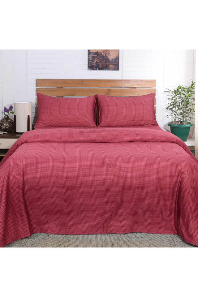 Flamboyance Houndstooth Print Single Bed Sheet with 1 Pillow Cover