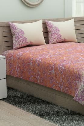 SPACESEthnic Rangana Printed Double Bed Sheet With Pillow Cover - 204761246_9557