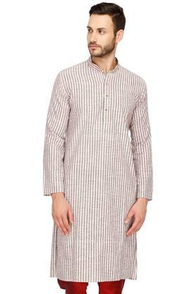 a1ca6a0dd KASHISH nbsp Mens Mao Collar Stripe Kurta Best Deals With Price ...