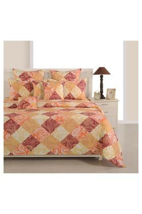 SWAYAMPrinted Double Bed Sheet, Comforter And Pillow Covers Set - 204584131_9508