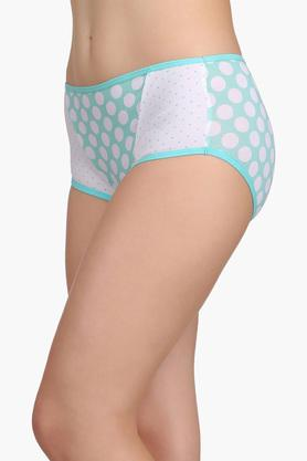 Womens Mid Waist Printed Hipster Brief