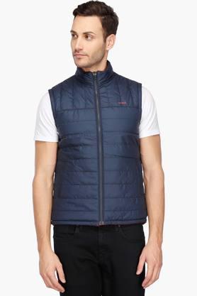 IZODMens Zip Through Neck Solid Reversible Jacket