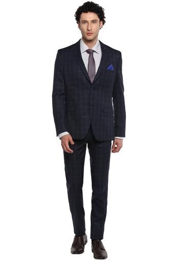 Mens Notched Lapel Checked Suit